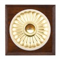 Hamilton Bloomsbury Chamfered Antique Mahogany with White Trim Switches
