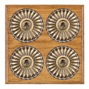 Hamilton Bloomsbury Ovolo Medium Oak with Black Trim Switches