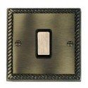 Hamilton Cheriton Georgian Antique Brass with Black Trim Switches