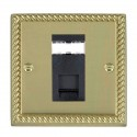 Hamilton Cheriton Georgian Polished Brass with Black Trim Data Sockets