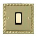 Hamilton Cheriton Georgian Polished Brass with Black Trim Switches