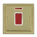 Hamilton Cheriton Georgian Polished Brass with White Trim Cooker Switches