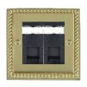 Hamilton Cheriton Georgian Polished Brass with White Trim Data Sockets