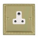 Hamilton Cheriton Georgian Polished Brass with White Trim Sockets