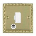Hamilton Cheriton Georgian Polished Brass with White Trim Spur Units