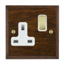 Hamilton Woods Chamfered Dark Oak with White Trim Sockets