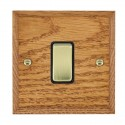 Hamilton Woods Chamfered Medium Oak with Black Trim Switches