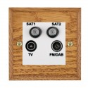 Hamilton Woods Chamfered Medium Oak with White Trim Television and Satellite Sockets