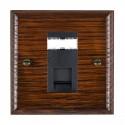 Hamilton Woods Ovolo Antique Mahogany with Black Trim Data Sockets