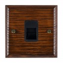 Hamilton Woods Ovolo Antique Mahogany with Black Trim Telephone Sockets