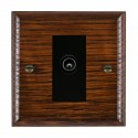 Hamilton Woods Ovolo Antique Mahogany with Black Trim Television and Satellite Sockets