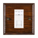 Hamilton Woods Ovolo Antique Mahogany with White Trim Data Sockets