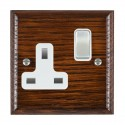 Hamilton Woods Ovolo Antique Mahogany with White Trim Sockets