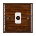 Hamilton Woods Ovolo Antique Mahogany with White Trim Television and Satellite Sockets