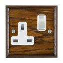 Hamilton Woods Ovolo Dark Oak with White Trim Sockets