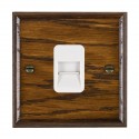 Hamilton Woods Ovolo Dark Oak with White Trim Telephone Sockets