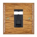 Hamilton Woods Ovolo Medium Oak with Black Trim Data Sockets
