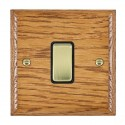 Hamilton Woods Ovolo Medium Oak with Black Trim Switches