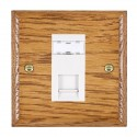 Hamilton Woods Ovolo Medium Oak with White Trim Data Sockets