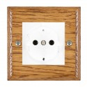 Hamilton Woods Ovolo Medium Oak with White Trim Sockets