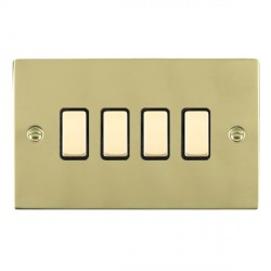 Hamilton Sheer Polished Brass with Black Inserts
