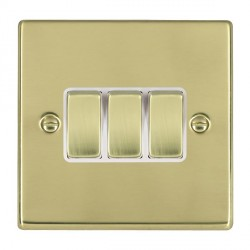 Hamilton Hartland Polished Brass with White Inserts