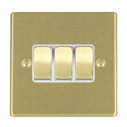 Hamilton Hartland Satin Brass with White Inserts