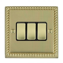 Hamilton Cheriton Georgian Polished Brass with Black Inserts