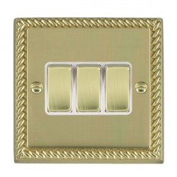 Hamilton Cheriton Georgian Polished Brass with White Inserts