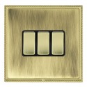 Hamilton Linea-Perlina CFX Polished Brass/Antique Brass with Black Inserts