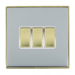 Hamilton Linea-Duo CFX Polished Brass/Bright Steel with Whit...