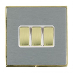Hamilton Linea-Duo CFX Polished Brass/Satin Steel with White...