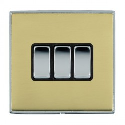 Hamilton Linea-Duo CFX Bright Chrome/Polished Brass with Bla...
