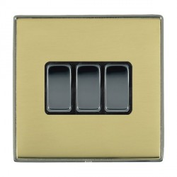 Hamilton Linea-Duo CFX Black Nickel/Polished Brass with Blac...