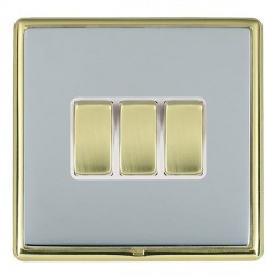Hamilton Linea-Rondo CFX Polished Brass/Bright Steel with Wh...