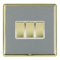 Hamilton Linea-Rondo CFX Polished Brass/Satin Steel with Whi...