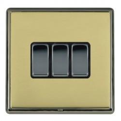 Hamilton Linea-Rondo CFX Black Nickel/Polished Brass with Bl...