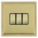 Hamilton Linea-Georgian CFX Polished Brass/Polished Brass with Black Inserts