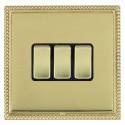 Hamilton Linea-Georgian CFX Polished Brass/Polished Brass with Black Inserts