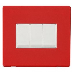 Click Definity Screwless Red with White Inserts