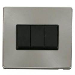 Click Definity Screwless Brushed Steel with Black Inserts