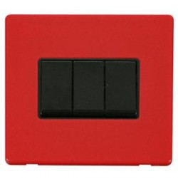Click Definity Screwless Red with Black Inserts