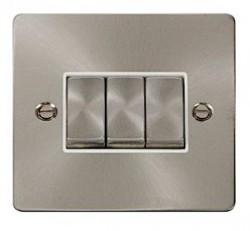 Click Define Flat Plate Brushed Steel with White Inserts