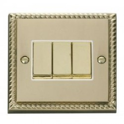 Click Deco Georgian Cast Brass with White Inserts