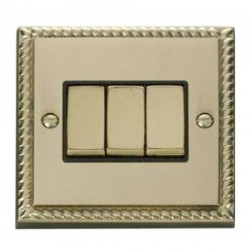 Click Deco Georgian Cast Brass with Black Inserts