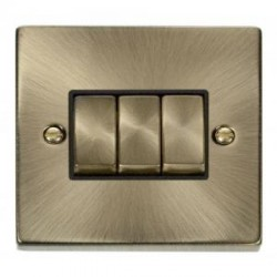 Click Deco Victorian Antique Brass with Black Inserts