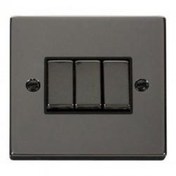 Click Deco Victorian Black Nickel with Black Inserts