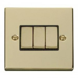 Click Deco Victorian Polished Brass with Black Inserts