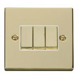 Click Deco Victorian Polished Brass with White Inserts