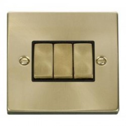 Click Deco Victorian Satin Brass with Black Inserts
